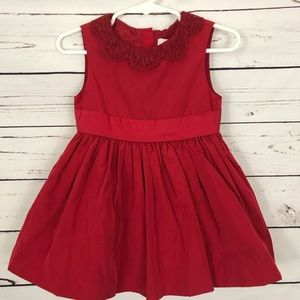 NWT Neiman Marcus Red Girls Party Dress Size 18M